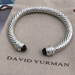 David Yurman 7mm Smoky quartz diamond Bracelet